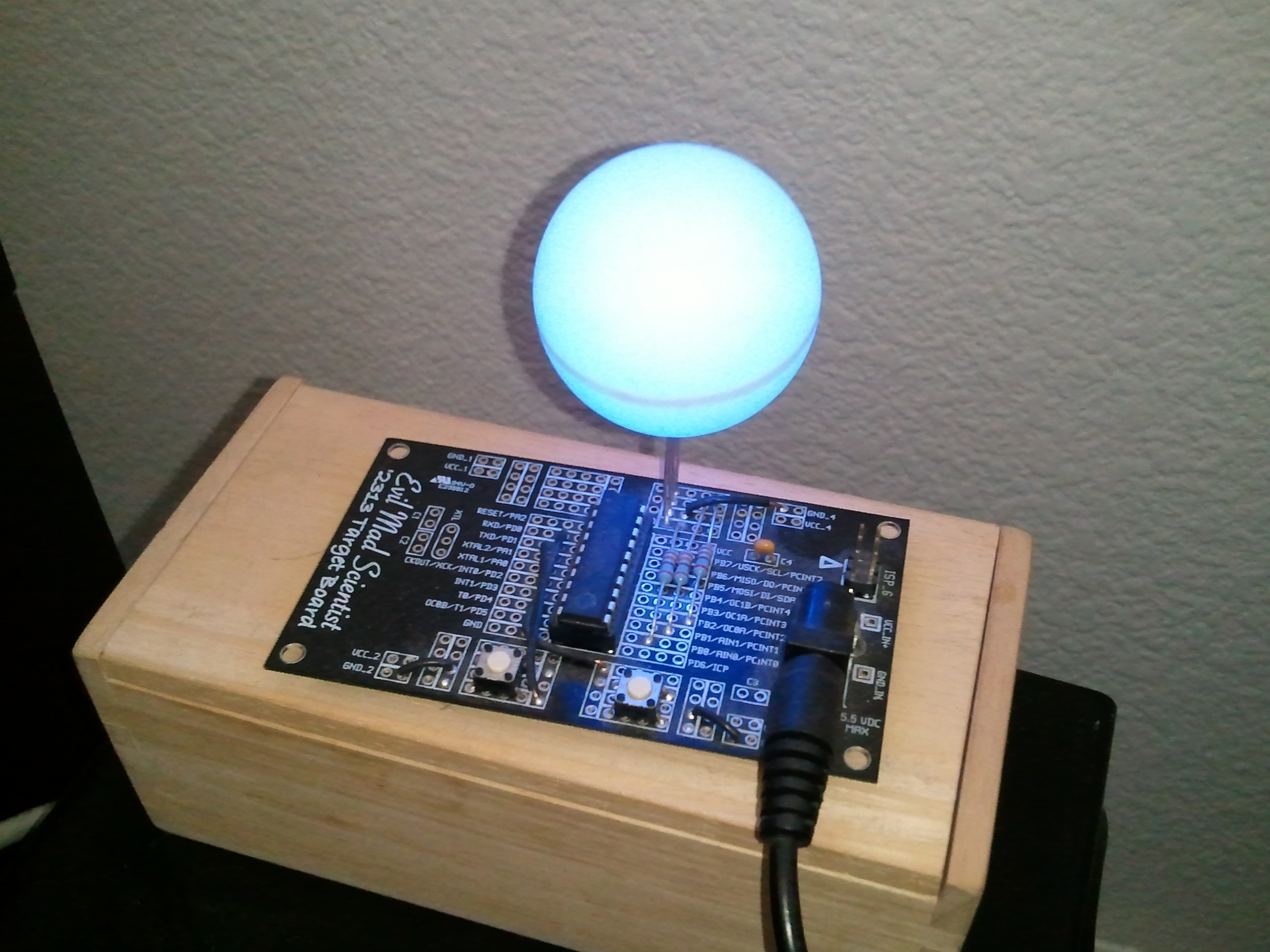 Rgb Led Glow Ball Project Circuit And Projects This